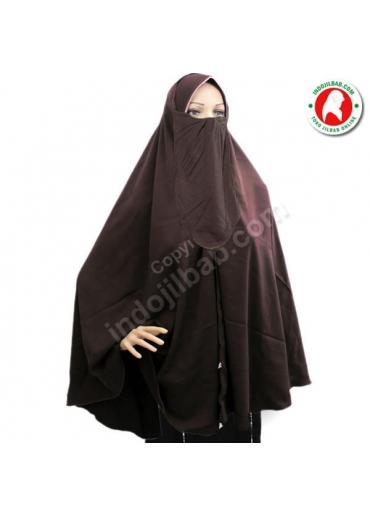 Jilbab Cadar Coklat 001