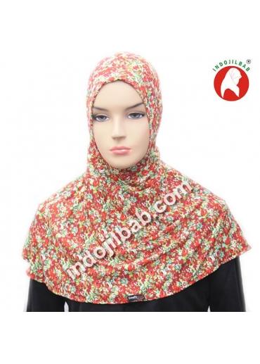 Ciput Antem (Anti Tembem) Maroko Bunga Merah