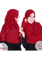 Pashmina Instant - PIN SHAIRA Maroon