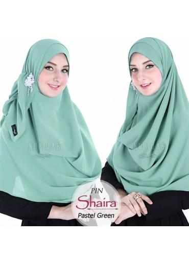 Pashmina Instant - PIN SHAIRA Pastel Green