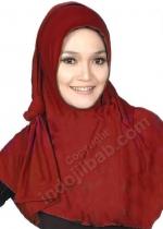 Pashmina Instan 02 Merah 001
