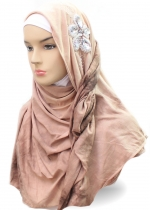 Shawl Tie Dye Diamond Flower Coklat 001