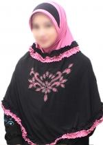 Nida Rania Hitam-Pink