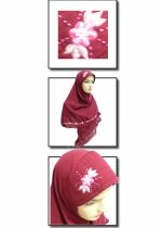 Hip Series Bordir Merah Marun