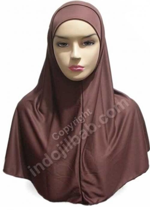 Jilbab Syria Coklat 001