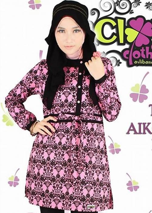 Tunic Aiko Batik Pink