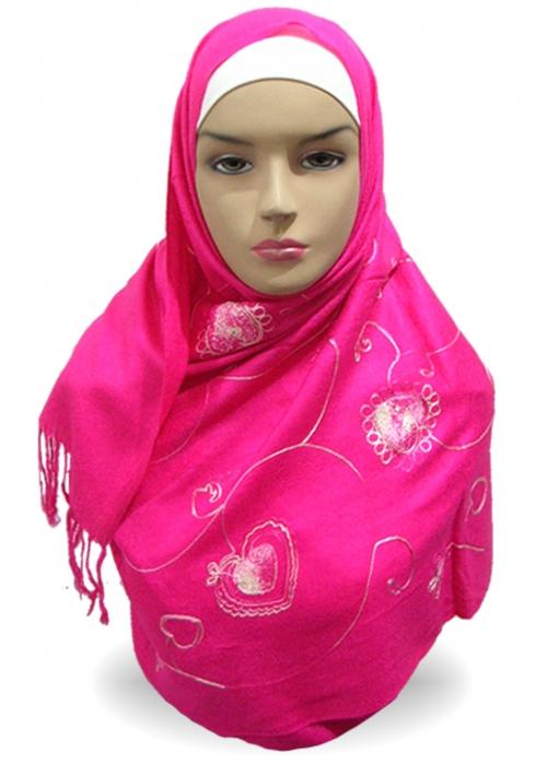 Shawl 100% Pashmina Pink 002