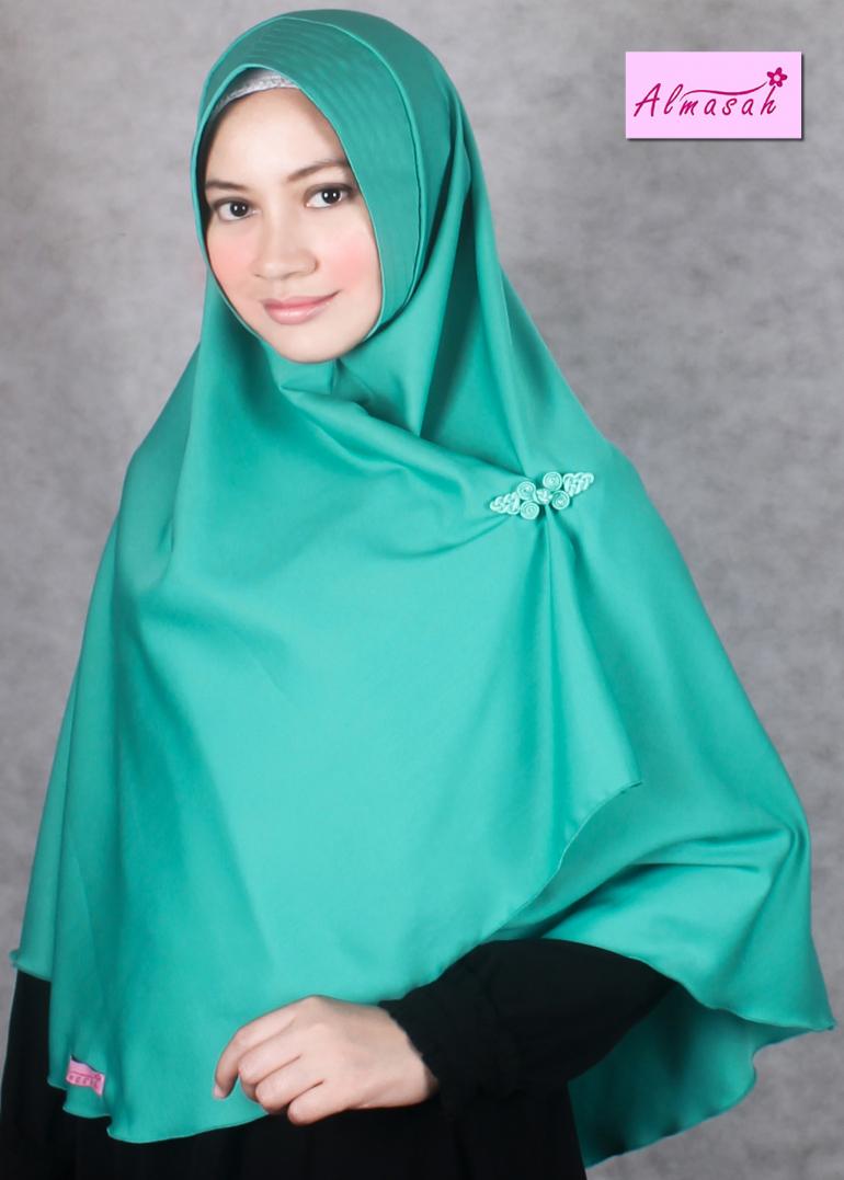 Hijab Hijau Tosca Gambar Islami